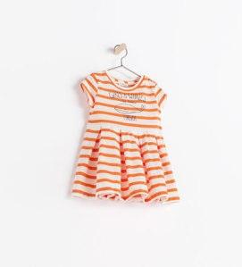Vestido rayas Zara 12,95