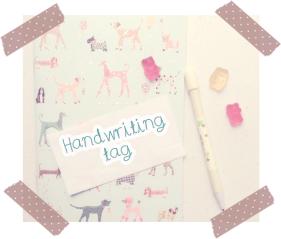 handwriting tag